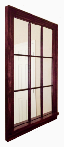 Mahogany Mirror Window